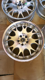"Rare genuine set Rays Sebring ITC 18"" 5x114.3 wheels rims"
