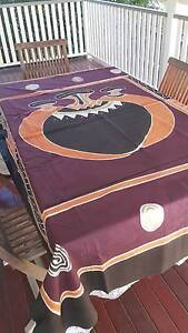 Purple Indian screenpainted cotton tablecloth for 6 seater Albion Brisbane North East Preview