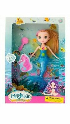Mermaid Bath toys for girls, and toddlers. Cute Little Mermaid Doll with ... NEW