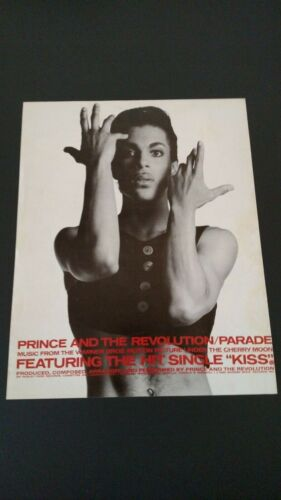 """PRINCE & THE REVOLUTION/PARADE """"KISS"""" 1985 RARE ORIGINAL PRINT PROMO POSTER AD"""