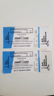 Jimmy Carr 2x  Stalls ticket Saturday 27th Jan