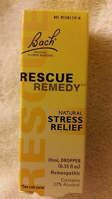 Bach Flower Remedies Rescue Remedy Stress Relief 10 mL Dropper HOMEOPATHIC -