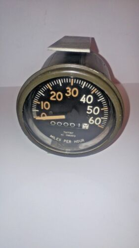 Vintage AC Military Speedometer 60 MPH New Old Stock Surplus 1580972