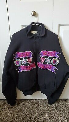 Vintage Kansai Yamamoto Jacket Hip Length M-L Embroidered Jester Joker kansai O2