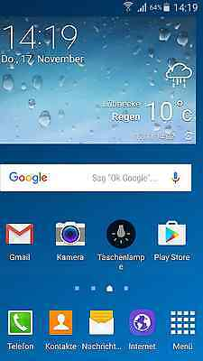 Screenshot Home Screen, Samsung Galaxy S4