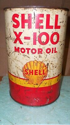 Vintage Shell Motor Oil  5 Quart Oil Can Nice Can