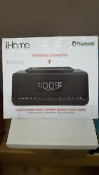 iHome Bluetooth Stereo Speaker, Dual Alarm And Dual Wireless Charging System