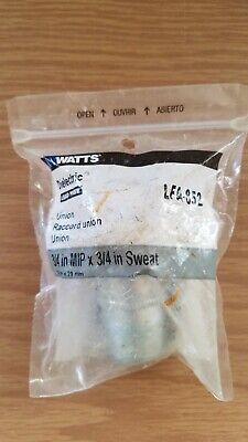 Watts Dielectric Union Pipe Fitting Lfa-852 34