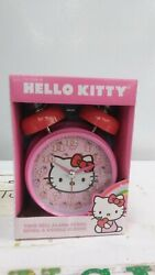 Hello Kitty Pink Red Double Bell Alarm Clock Sanrio 2011 Target Cat Bow Fruits