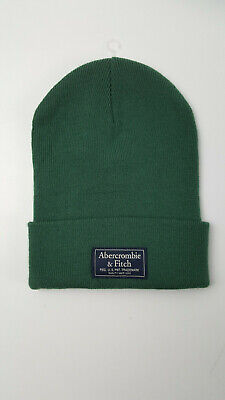 Abercrombie & Fitch Green Winter Beanie Hat Skull Cap - One Size