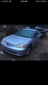 02 Honda Civic coupe parts only