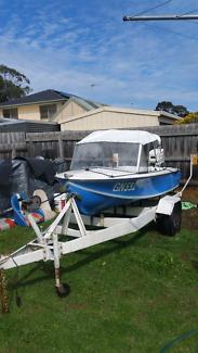 MINI SPEED BOAT FOR SALE MIGHTY SMURF 25 HP JOHNSTON! Fiberglass