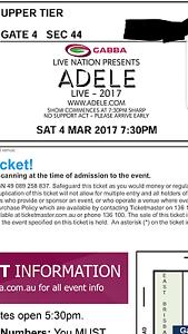 4 × Adele concert ticket Mount Gravatt East Brisbane South East Preview