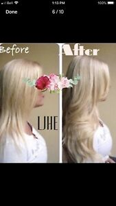 CERTIFIED HAIR EXTENSIONS! HOT FUSION TAPE IN MICROLINK!