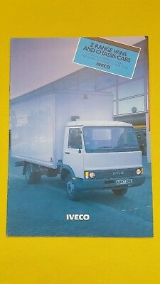 Iveco Z Range GVW pick-up chassis cab van sales catalogue brochure 1984 MINT
