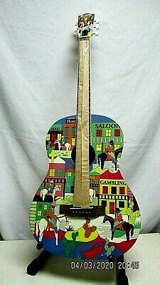 Recording King Acoustic Guitar RG-100-T cowboy town art