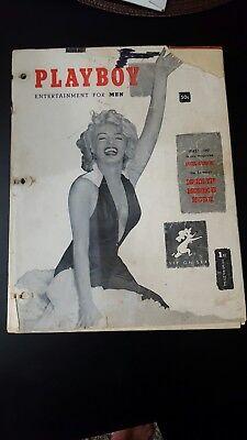 Playboy Magazine December 1953 1St First Original   Marilyn Monroe Hugh Hefner