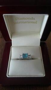 Diamond and Blue Topaz Engagement/Dress Ring Darra Brisbane South West Preview