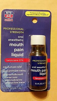 Rite Aid Mouth Pain Liquid Professional Strength   5 Fl Oz   Compare To Kank A