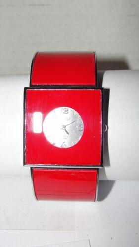 RED SQUARE STRADA QUARTZ JAPAN CUFF WRIST WATCH