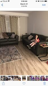 Couch and love seat synthetic leather