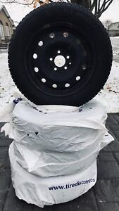 4 VERY NEW Winter Tires ON Rims