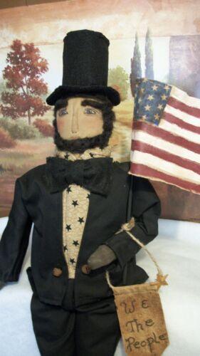 PATTERN,Primitive dolls,Americana Abe Lincoln,24 in. by Dumplinragamuffin,#230