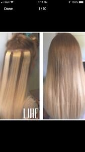 CERTIFIED HAIR EXTENSIONS!! HOT FUSION TAP IN MICROLINK!