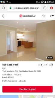 1 bedroom unit available to rent | west lakes |