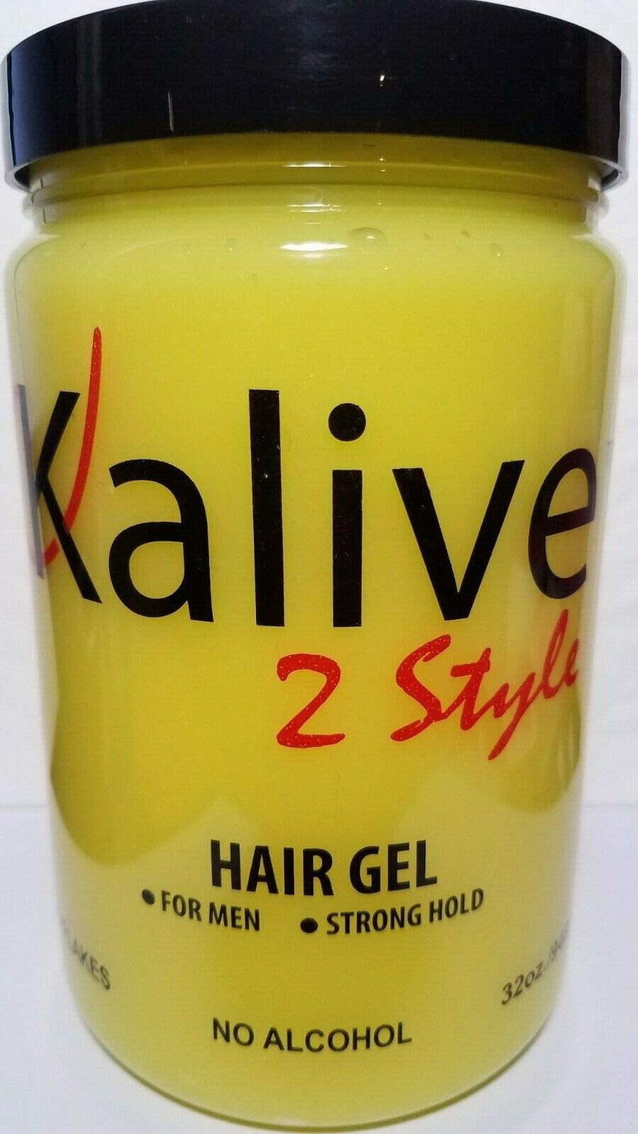 KALIVE 2 STYLE HAIR GEL FOR MEN STRONG HOLD NO FLAKES 32 OZ