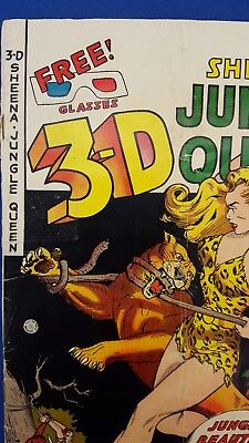 SHEENA QUEEN of the JUNGLE 3-D #1, VG, 1953, w/3-D GLASSES, Golden Age, Pre-code
