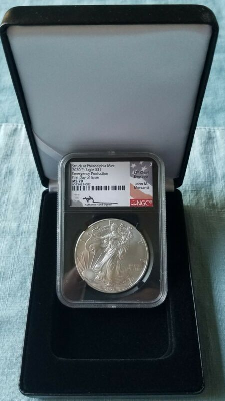 2020 (P) $1 Silver Eagle Philadelphia Emergency Issue NGC MS70 FDOI Mercanti
