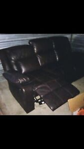 Couch Brown leather recliner