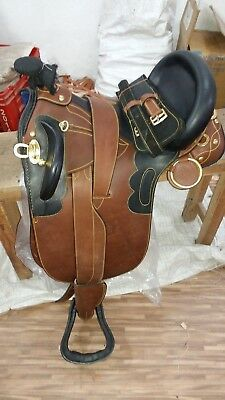 - 16'' Australian stock leather saddle with full accessories
