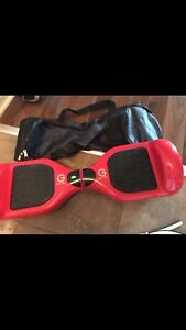 GLITEK hoverboard with built in BT speakers for sale with bag.
