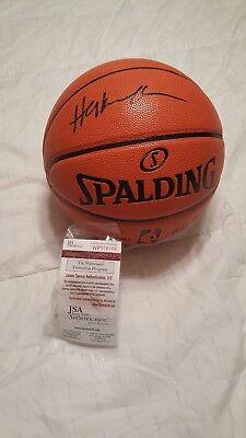 6bbe3464e8d3 Houston Rockets Hakeem Olajuwon Autographed Offical Spalding NBA Basketball  COA