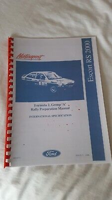 FORD MOTORSPORT F2 RS200 GROUP A  RALLY PREP WORKSHOP MANUAL ONLY ON CD/DVD