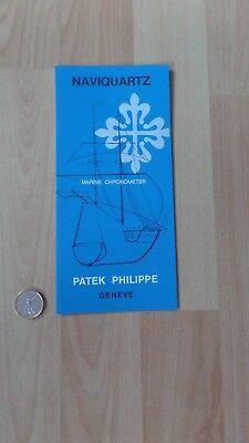 Patek Philippe Naviquartz Marine Chronometer + Chronoquartz instructions reprint, usato usato  Spedire a Italy