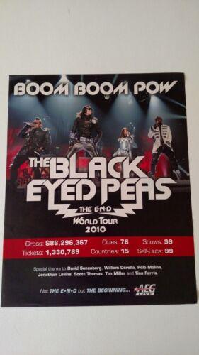 BLACK EYED PEAS THE E.N.D. TOUR 2010 RARE ORIGINAL PRINT PROMO POSTER AD