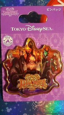 Tokyo Disney Sea 2017 Halloween Pin Villains Ursula Hook Hades Maleficent Jafar (2017 Halloween)