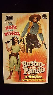 The Paleface ORG 1948 Spanish Herald Movie Poster Bob Hope, Jane Russell