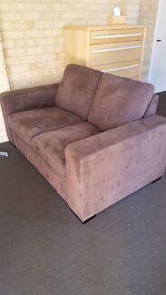 Micro suede two seater sofa Floreat Cambridge Area Preview