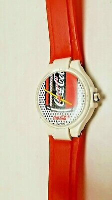 Collectable Women's Coca Cola Coke Swiss Red White Can Dots Retro Working Watch