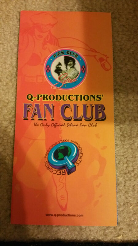 SELENA Quintanilla Q Productions Fan Club Application Rare