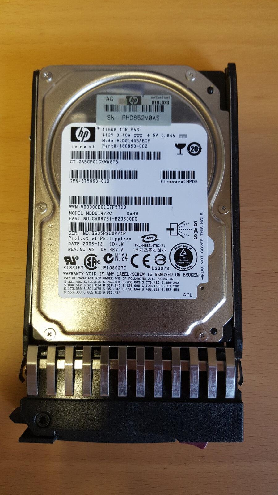 Disco rigido HP 460850-002 SAS 2.5