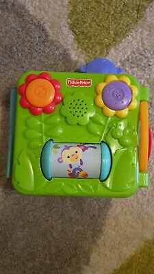 Fisher-Price Baby Kleinkind Spielzeug Plastik Musik Buch aufklappbar