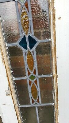 Edwardian stained glass panel (circa 1910)