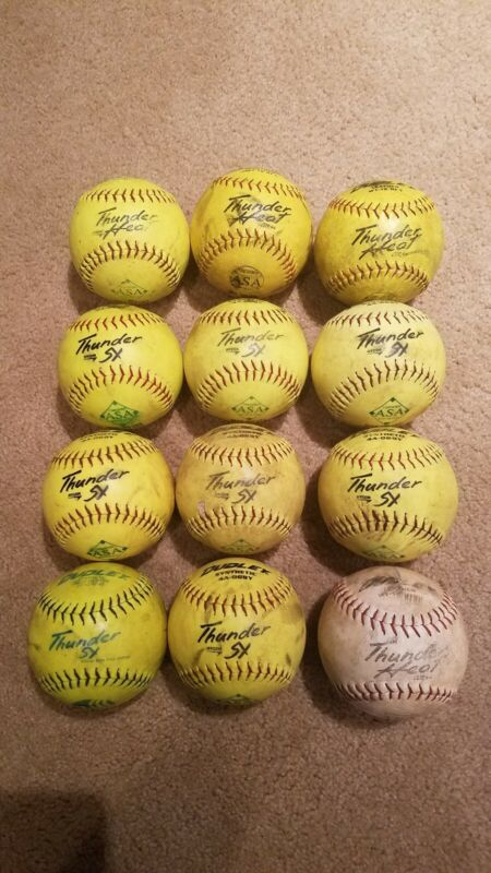 Used Tattoo Softballs