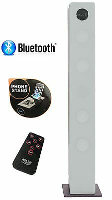 2.1Sound Tower Lautsprecherturm Musikanlage  Kompaktanlage Bluetooth Silber