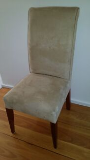 Four (4) Dining chairs. Suede fabric.  Excellent condition.  Putney Ryde Area Preview